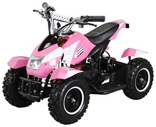 Actionbikes Motors Mini Kinder Elektro Quad ATV Cobra 800 Watt 36 V Pocket Quad - Original Saftey Touch - Kinder E Bike (Pink/Weiß)