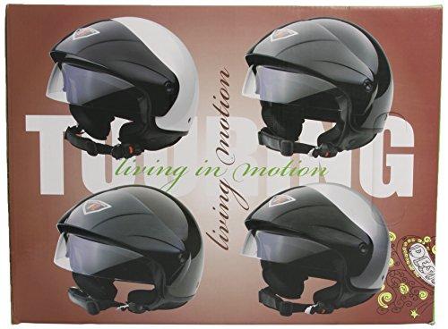 Bottari Motorradhelm Touring, Metal Black, Größe S