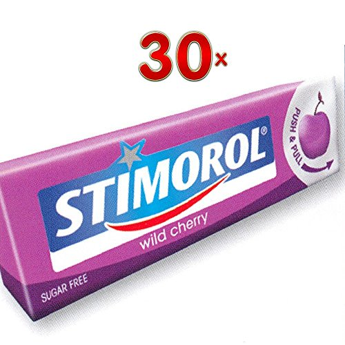 Stimorol Wild Cherry Single 30 x 14g Packung (Kaugummi wilde Kirsche)