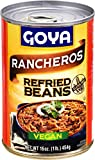 Goya Foods Refried Pinto Beans Rancheros, 16 Ounce (Pack of 12)...