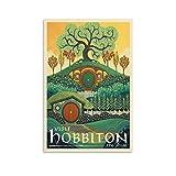 BUJI Hobbiton Poster sur toile Le Seigneur des Anneaux de la Terre du Milieu 40 x 60 cm