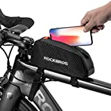 ROCKBROS(ロックブロス)トップチューブバッグ 自転車 バッグ 軽量 フレームバッグ ロードバイク 装着便利 小物収納 防塵 バンジーコード付き