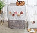 Abdeckung Für Waschmaschinen,Waschmaschinenbezug, Waschmaschine Staubschutz, Wasserdichte Abdeckung Für Waschmaschine Frontlader Trockner (Fünf Kleine Blumen(L65*W60*H85Cm))