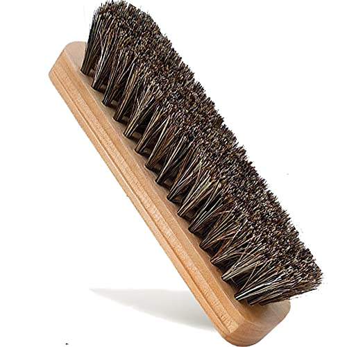 """6.7"""" Shoe Brush,Horsehair Shoe Shine Brushes ,Suede Shoe Brush Cleaning for Shoes, Boots & Other Leather Care"""