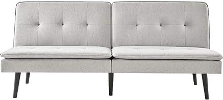小米生态链企业8H Smile北欧风双人沙发床小户型可折叠布艺沙发BC1 (雾灰)