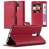 Cadorabo Hülle für Huawei Mate 9 - Hülle in Karmin ROT – Handyhülle mit Kartenfach & Standfunktion - Hülle Cover Schutzhülle Etui Tasche Book Klapp Style