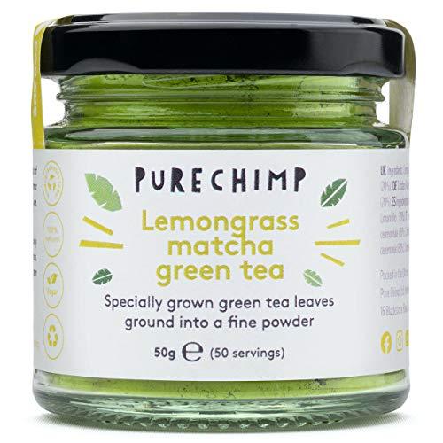 Té Verde Matcha con Limoncillo en Polvo PureChimp, 50 g | Libre de Pesticidas
