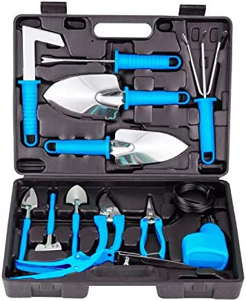BNCHI Gardening Tools Set 14 Pieces Stainless Steel Garden Hand Tool Gardening Gifts for Women product image