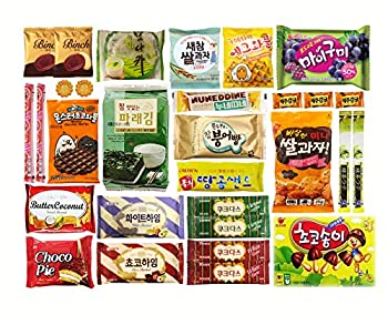 Korean Popular Snack Cookies Chips and Candies Variety Box  30 Count …
