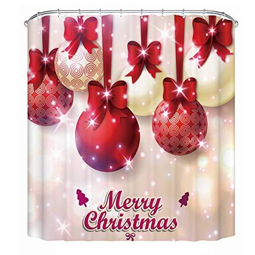 CHICHIC Duschvorhang 22 Christmas Balls