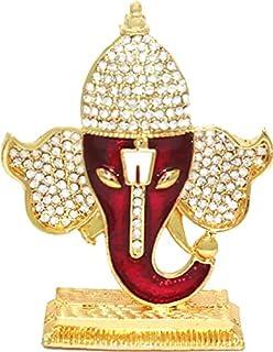 Saubhagya Global Vinayaka Hindu Religious God Ganesh Gold Plated Idol/Murti/Statue Decorative Showpiece Gift Item for Car ...