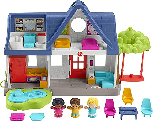 Fisher-Price Little People Friends Together Play House  electronic playset with Smart Stages learning content for toddlers and preschool kids