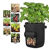 NSPSTT Juego de 3 bolsas para plantas de patata, bolsas de cultivo, macetas de jardín, bolsas de tela polar con asas para patatas, tomates, 7 galones