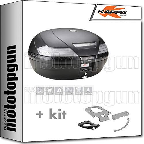 kappa maleta k49nt 47 lt + portaequipaje monokey compatible con bmw c 650 sport 2019 19 2020 20