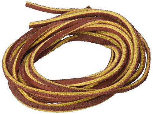 Mudder Leder-Kordel, 3,5mm flach, aus echtem Leder, Braun