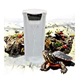 Aquarium Waterfall Filter Reptiles Turtle Filter for small tank 1-12 gallon, Low Level Water Clean Pump Internal Bio Media Water Filtration System for Fish Amphibian Cichlids Frog (Waterfall Filter)