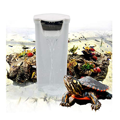 Aquarium Waterfall Filter Reptiles Turtle Filter for small tank 1-15 gallon, Low Level Water Clean Pump Internal Bio Media Water Filtration System for Fish Amphibian Cichlids Frog (Waterfall Filter)