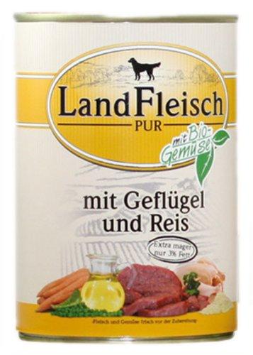Landfleisch Geflügel & Reis | 6X 800g Nassfutter