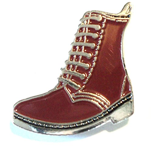 Red Brown DM Skinhead Bovver Boot MOD Metal Enamel Badge