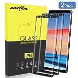 NONZERS Panzerglas Schutzfolie für Samsung Galaxy Note 9 [2 Stück], Panzerglasfolie, [Full Coverage], [3D Volle Bedeckung], [ Anti-Kratzen], [Anti-Fingerabdruck], [Anti-Öl], [HD Ultra Klar], Schwarz