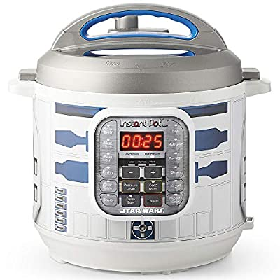 Instant Pot 112-0104-01 6Qt Star Wars Duo 6-Qt. Pressure Cooker, R2-D2, White with Blue R2D2