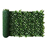 ECOOPTS Aritificial Ivy Fence Wall Décor Faux Ivy Expandable/Stretchable Privacy Fence Screen Plant
