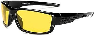 SGJFZD Windshield Sunglasses Men's Outdoor Cycling Glasses Men's Polarized Sunglasses UV400 PC (Color : Yellow)