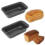 JWShang - Paquete con 2moldes rectangulares para pan, en acero...
