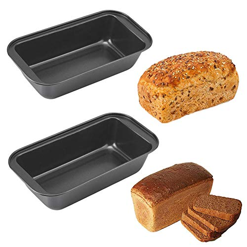 2 Pack Loaf Pans, Nonstick Baking Bread Pan, 8.5 x 4.3 Inch Carbon Steel Bread Loaf Baking Pan, Loaf Bakeware for Home Kitchen