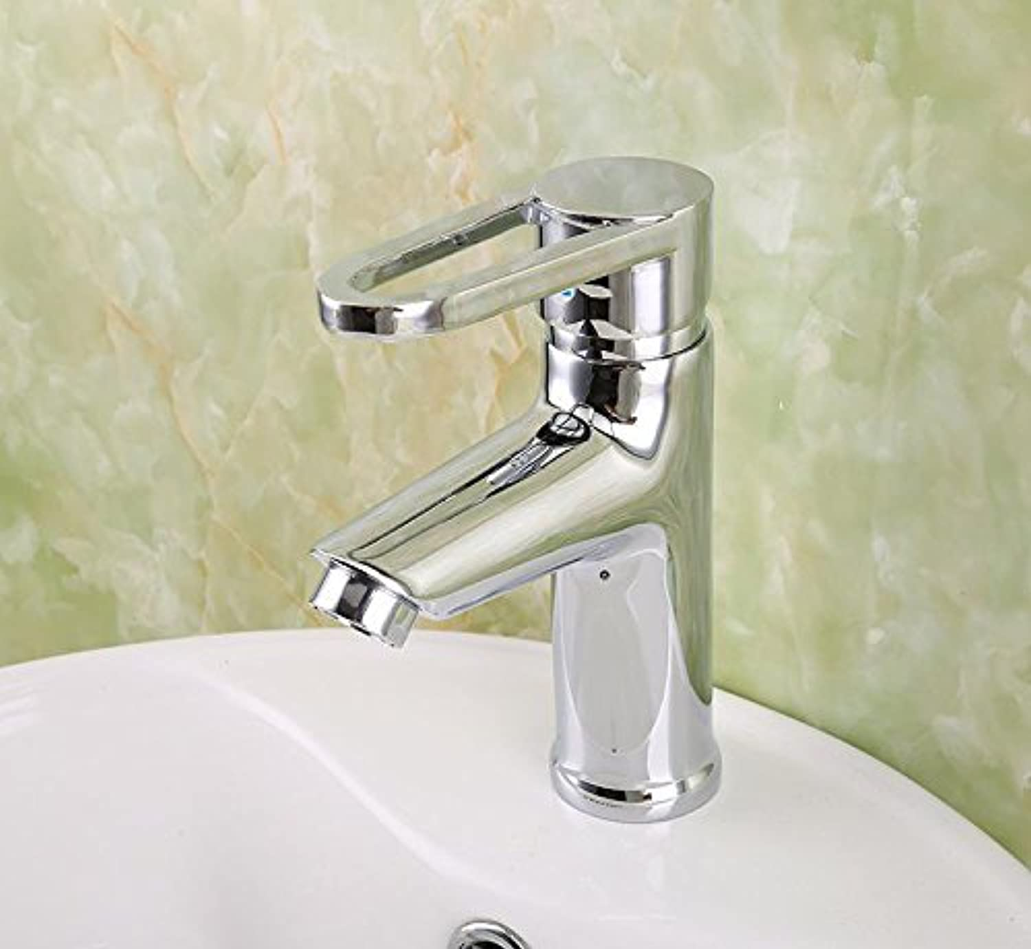 Bijjaladeva Bathroom Sink Vessel Faucet Basin Mixer Tap Hot and cold basin mixer single hole single handle bathroom vanity area with hand wash basin taps on Pearl bath-tub alloy fi