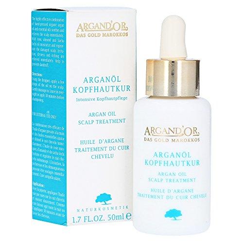 ARGAND\'OR Bio Arganöl Kopfhautpflege 50ml Intensive Pflege für gereizte Kopfhaut Hilft bei Juckreiz Anti-Schuppenbildung Mit hygienischer Pipette Vegan