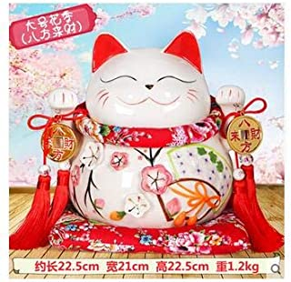 ZAMTAC Lucky Cat car Accessories Factory Direct Selling Ceramic Bone China high-Grade Crystal seat car Accessories - (Color: Dark Gray)