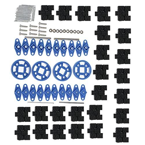 zmigrapddn 1 Set RC Tank Track Kit di Accessori per la creazione di Modelli per Modelli di Auto Giocattolo Kit di Riparazione Hobby (Accessori di Ricambio RC)