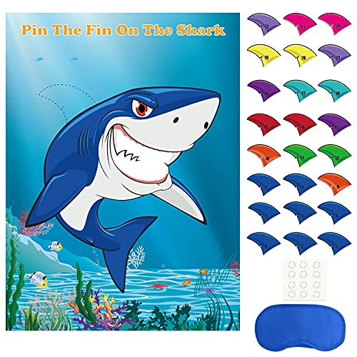 Pin The Fin on The Shark Game