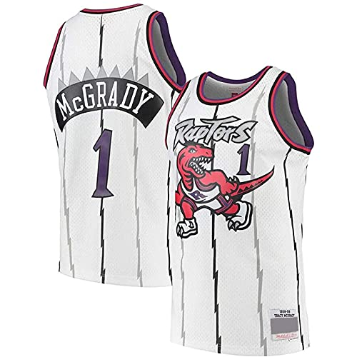 YCQQ Ropa De Baloncesto, Toronto # 1 Patrick Mccaw Camiseta De Mujer para Hombre Chaleco Transpirable De Baloncesto Camiseta Deportiva De Swingman, Cómodo y Fresco(Size:XXL,Color:G2)