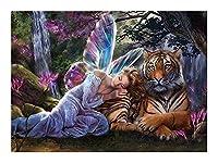 フロアパズル絵画千個の木製パズルジグソーパズル、大人のための教育ゲーム最高の贈り物や子供、動物ジグソーパズルピース謎のタイガー風景 YANGBM (Color : A, Size : 520pcs)