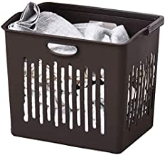 Laundry Basket Storage Bin Simple Household Clothes Finishing Plastic Storage Basket (Color : Brown)