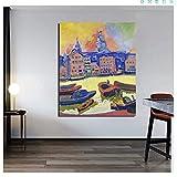 HHLSS Impresiones para Paredes 40x50cm sin Marco Andre Derain Barco y casa imágenes artísticas Impresiones póster e Impresiones decoración del hogar