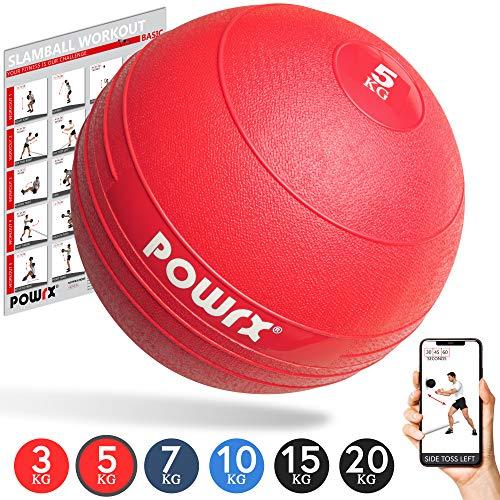 POWRX Slamball/Medizinball 3-20 kg (5 kg/Rot)
