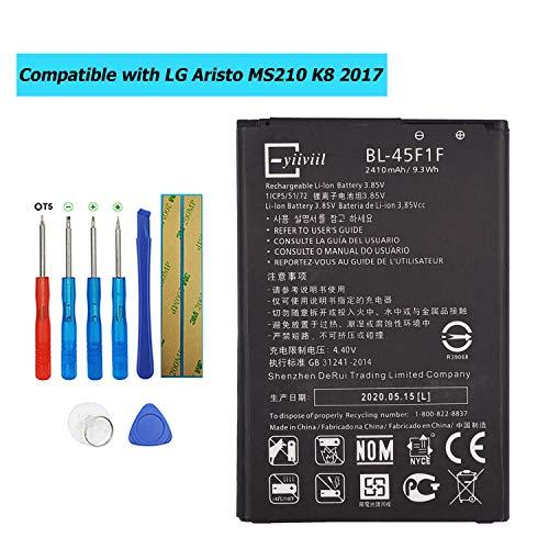 E-YIIVIIL BL-45F1F Batería de repuesto compatible con LG Aristo MS210 K10 Pro 2017 K8 2017 Versión K8 Phoenix 3 con kit de herramientas