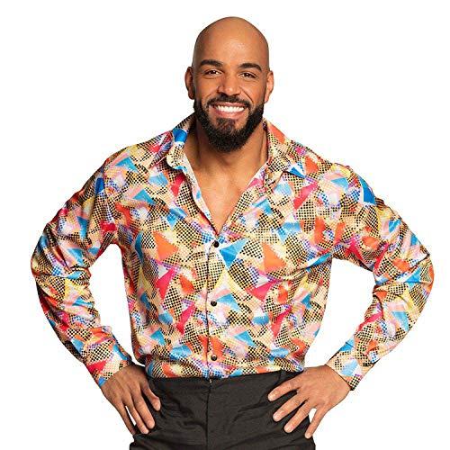 Boland 02187 - Shirt Crazy, mehrfarbiges Muster, Hemd für Herren, Discoshirt, Karneval, Fasching, Fastnacht, Halloween, Mottoparty, 70er Jahre