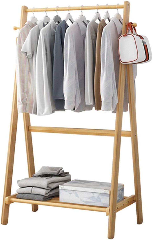 XIAOLONG Modern Creative Coat Rack Floor Rack Bedroom Simple Clothes Rack Floor Bamboo Assembly Mobile Floor Hanger -45