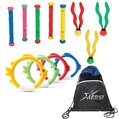Product Image of the Intex Pool Diving Toys Set of 3 with a Bag: Underwater Fun Balls, Underwater...
