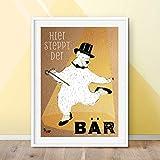 Will & Ruby Steppender Bär, Poster, A3, Kinderzimmer,
