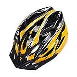 YOUCAI Moldeado Integrado Andar en Bicicleta al Aire Libre Ajustable Cascos de Bicicleta para Hombres y Mujer Amarillo Negro L
