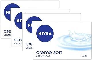 NIVEA Soap, Crème Soft, 125g (4 Pieces)