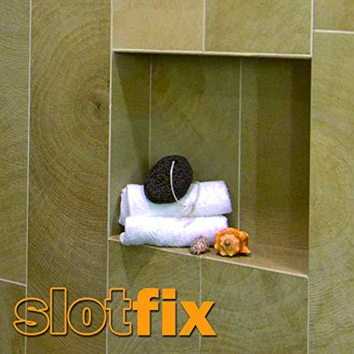 SLOTFIX montagefertige Wandnische 30x30x10cm Duschnische Doppelnische Stauraum universal für Trockenbau Ständerwand Massivwand