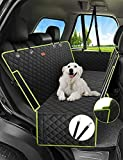 Nzonpet 4-in-1 Dog Car Seat Cover, 100% Waterproof Scratchproof Dog Hammock with Big Mesh Window, Durable Nonslip Dog Seat Cover, Pets Dog Back Seat Cover Protector for Cars Trucks SUVs