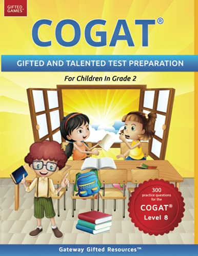 COGAT Test Prep Grade 2 Level 8: Gifted and Talented Test...
