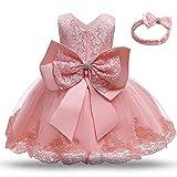 TTYAOVO Baby Mädchen Spitze Kleid Bowknot Blume Hochzeit Kleider Größe(120) 4-5 Jahre 648...